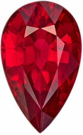 Gorgeous Ruby Genuine Loose Gemstone in Pear Cut, 2.02 carats, Rich Pigeons Bloods, 9.86 x 6.04 mm - CD Certificate
