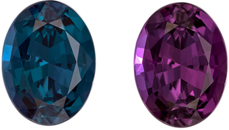 Top Gem Xtra Fine Gubelin Certified Genuine Loose Alexandrite Gemstone in Oval Cut, 8.92 x 6.69 x 4.59 mm, Teal Blue Green to Rich Eggplant, 2.03 carats
