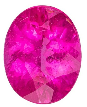 Genuine Red Tourmaline Gemstone, Oval Cut, 2.06 carats, 9.7 x 7.7 mm , AfricaGems Certified - A Wonderful Find