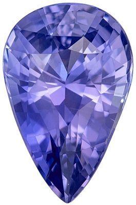 Wonderful No Treatment Purple Sapphire Genuine Loose Gemstone in Pear Cut, 2.07 carats, Levender Purple, 9.96 x 6.48 mm - GIA Certificate