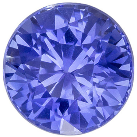 Beautiful No Heat Round Shape Blue Sapphire Gemstone, 2.09 carats, Medium Cornflower Blue Color, 7.19 x 7.06 x 5.3 mm, GIA Certified