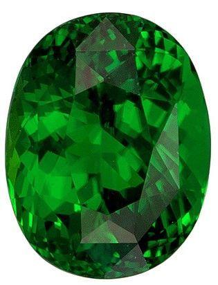 Classic Chrome Tourmaline 2.17 carats, Oval shape gemstone, 8.8 x 6.8  mm