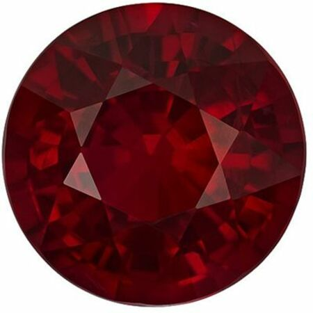 Hard to Find, Top Ruby Genuine Loose Gemstone in Round Cut, 2.32 carats, Pure Rich Red, 7.65 x 7.7 mm - GIA Certificate
