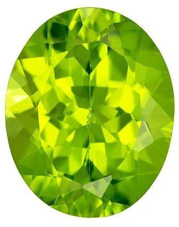 Natural Peridot Gemstone, 2.71 carats, Oval Cut, 10 x 8 mm, A Gorgeous Gem