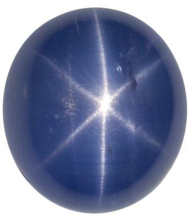 Stunning Star Sapphire Gem, 2.92 carats, Oval Cut, 8 x 7.2  mm , Gemmy Low Cost Stone