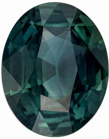 Super Genuine Loose Blue Green Sapphire Gemstone in Oval Cut, 10.3 x 8.2 mm, Teal Blue Green, 3.07 carats