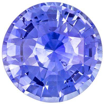 Classic 3.28 carats Blue Sapphire Round Genuine Gemstone, 8.7 mm