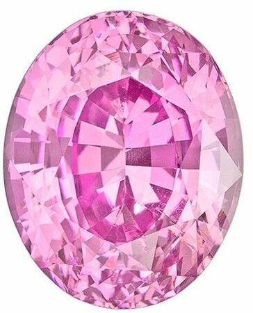 Selected Pink Sapphire Gemstone, 3.42 carats, Oval Cut, 9.4 x 7.5 mm, A Highly Selected Gem