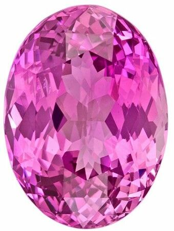 Genuine Pink Sapphire Gemstone, 3.55 carats, Oval Cut, 10.34 x 7.57 x 5.28 mm, Great Looking Stone