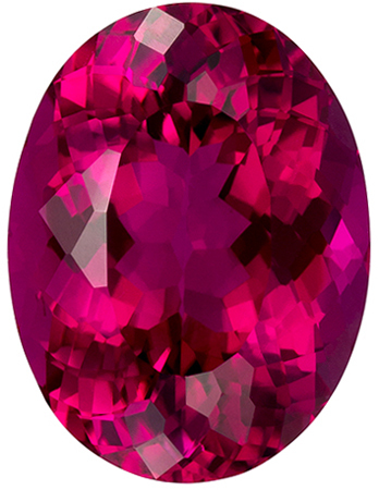 4.76 carats Rubellite Tourmaline Loose Gemstone in Oval Cut, Fuchsia Red, 12.4 x 9.4 mm