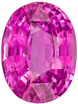 Popular 5.09 carats Pink Sapphire Oval Genuine Gemstone, 11.9 x 8.88 x 5.69 mm