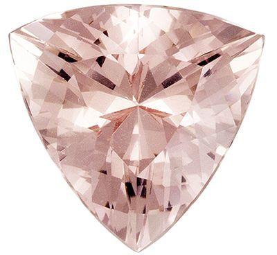 Beautiful Morganite Quality Gem, 5.37 carats, Pink Peach, Trillion Cut, 12.7 x 12.3mm