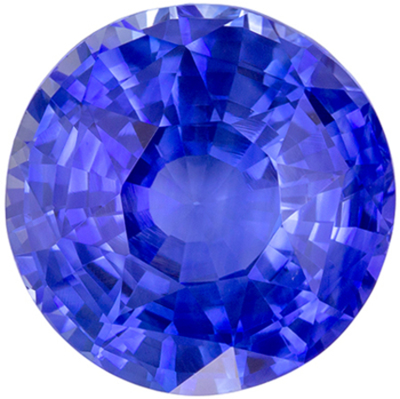 Wonderful Rare GIA Certified Sapphire Loose Gem, 12.12 x 11.96 x 7.25 mm, Cornflower Blue, Round Cut, 8.12 carats