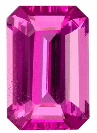 Authentic Pink Sapphire Gemstone, Emerald Cut, 2.12 carats, 8.8 x 5.8 mm , AfricaGems Certified - A Low Price Top Gem