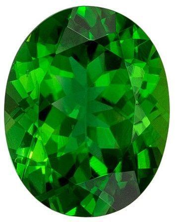 Natural Chrome Tourmaline 1.85 carats, Oval shape gemstone, 9 x 7.1  mm