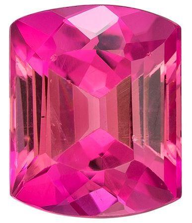 Super Fine Gem!  Pink Tourmaline Genuine Gemstone, 2.82 carats, Emerald Shape, 9.3 x 7.5 mm