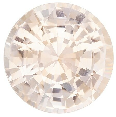 A Wonderful Find! Round Cut Loose Peach Sapphire Gemstone, 3.13 carats, 8.73 x 8.87 x 5.48 mm with GIA Certificate, A Must Have Gem
