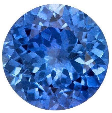 Authentic Blue Sapphire Gemstone, Round Cut, 0.57 carats, 5 mm , AfricaGems Certified - A Impressive Gem