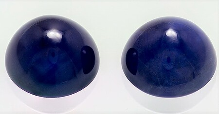 Authentic Blue Sapphire Gemstones, Cabochon Cut, 3.19 carats, 6.5 mm Matching Pair, AfricaGems Certified - A Deal
