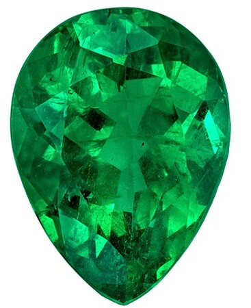 Beautiful  Emerald Gemstone, 1.64 carats, Pear Shape, 9 x 6.6 mm, Hard to Find Gem