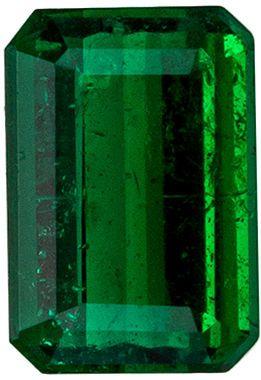 Beautiful Emerald Genuine Gem in Emerald Cut, 0.44 carats, Medium Rich Green, 5.5 x 3.7 mm