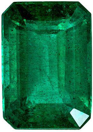 Stunning Natural Gem Emerald in a Vivid Green Color in Classic Emerald Cut, 8.1 x 5.7 mm, 1.70 carats