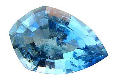 Beautiful Fancy Cut Finest Blue Aquamarine Gemstone 0.87 carats