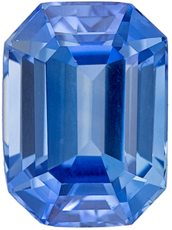 Must See GIA Certified Genuine Loose Blue Sapphire Gem in Emerald Cut, 8.09 x 5.94 x 4.48 mm, Medium Rich Blue Color, 2.15 carats