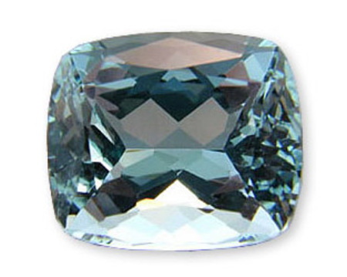 Beautiful Medium Deep Blue Natural Aquamarine Gemstone, Cushion Cut 9.80 carats at AfricaGems