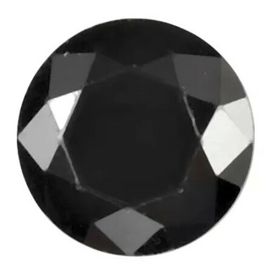 Black Cubic Zirconia Round Cut Stones