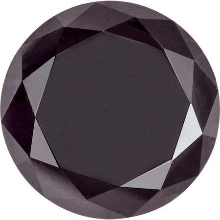 Black  Genuine Diamonds - Round  Cut
