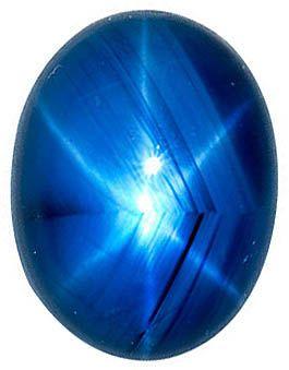 Blue Star Sapphire Oval Cut Gems in Grade AAA