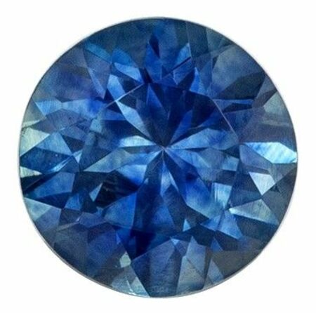 Faceted Blue Green Sapphire Gemstone, Round Cut, 0.8 carats, 5.4 mm , AfricaGems Certified - A Wonderful Find!