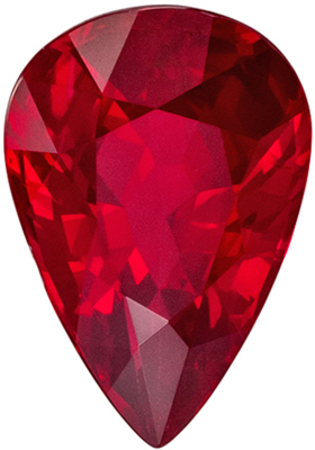Amazing GIA Certified Genuine Loose Ruby Gemstone in Pear Cut, 8.76 x 5.97 x 3.89 mm, Pigeons Blood Red, 1.52 carats