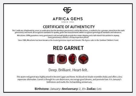 Cabochon Heart Genuine Red Garnet in Grade AAA