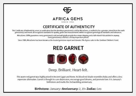 Cabochon Oval Genuine Red Garnet in Grade AAA