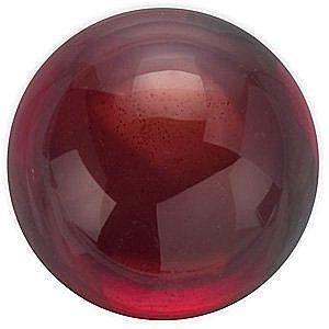Cabochon Round Genuine Red Garnet in Grade AAA