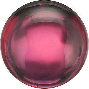 Cabochon Round Genuine Rhodolite Garnet in Grade AAA