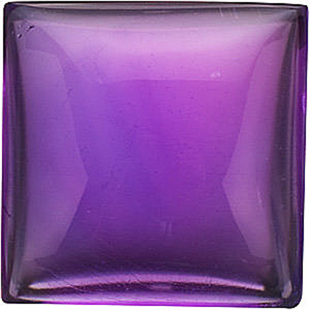 Cabochon Square Genuine Amethyst in Grade AAA