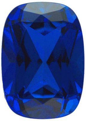 Chatham Lab Blue Sapphire Antique Cushion Cut in Grade GEM