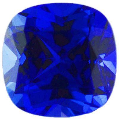 Chatham Lab Blue Sapphire Antique Square Cut in Grade GEM