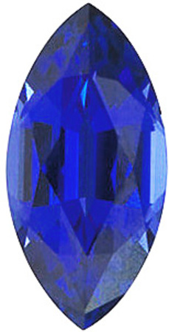 Chatham Lab Blue Sapphire Marquise Cut in Grade GEM