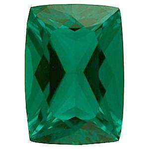 Chatham Lab Emerald Antique Cushion Cut Grade GEM