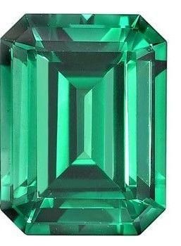 Chatham Lab Emerald in Emerald Cut in Grade GEM