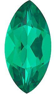 Chatham Lab Emerald Marquise Cut in Grade GEM