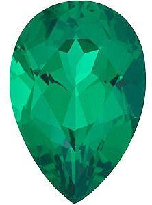Chatham Lab Emerald Pear Cut in Grade GEM