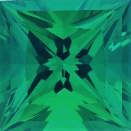 Chatham Lab Emerald Princess Cut in Grade GEM