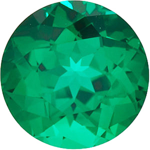 Chatham Lab Emerald Round Cut in Grade GEM