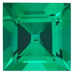 Chatham Lab Emerald Square Step Cut in Grade GEM