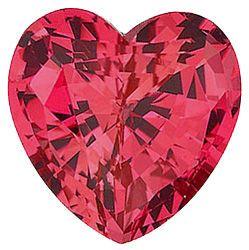 Chatham Lab Padparadscha Sapphire Heart Cut in Grade GEM
